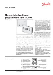 Thermostats d'ambiance programmable série TP7000