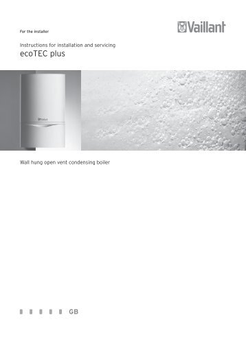 ecoTEC plus - Manuals - myBoiler.com