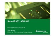 SecuriRAS® ASD 535 - Security-Forum