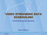 Video Streaming Data Scheduling