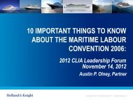 10 Important Things to Know About the Maritime Labour Convention 2006: