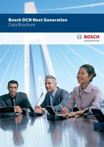 Bosch DCN Next Generation Data Brochure - Bosch Security Systems