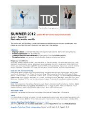 SUMMER 2012 updated May 26 / colored ... - Park Cities Dance