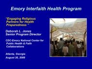 Emory Interfaith Health Program - sophe