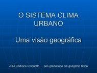 O SISTEMA CLIMA URBANO Uma visão geográfica - USP