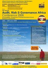 Audit, Risk & Governance Africa Conference 2009 - MIS Training