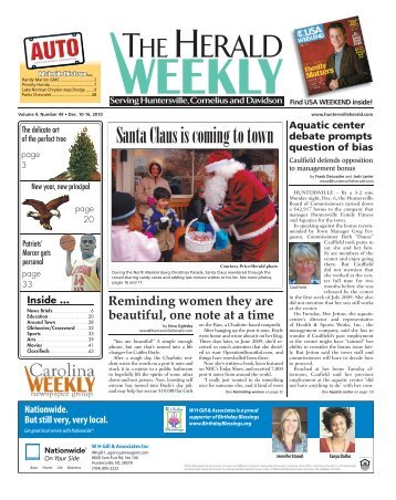 Santa Claus is coming to town - Carolina Weekly Newspapers