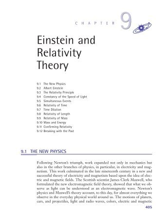 Chapter 9: Einstein and Relativity Theory (319 KB) - D Cassidy Books