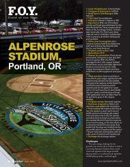 Field of the Year - About SportsTurf