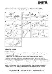 Schwimmende Verlegung - Symphony und  ... - Parkett Direkt GmbH