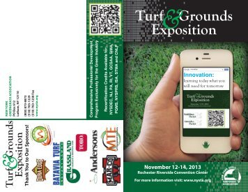 Attendee Brochure PDF - New York State Turfgrass Association