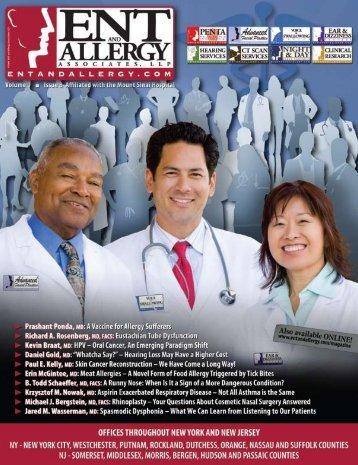 ENT and Allergy Magazine Volume I, Issue VIII - ENT & Allergy ...