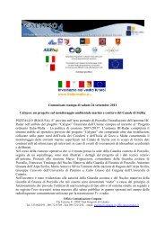 un progetto sul monitoraggio ambientale marino e costiero del ...