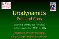 Urodynamics pros and cons