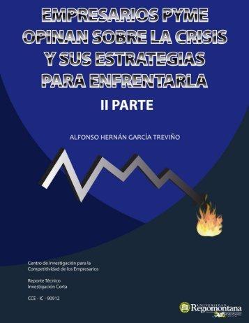Empresarios PYME Opinan sobre la Crisis y sus Estrategias para ...