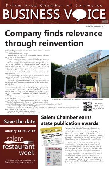 November/December 2012 - Salem Area Chamber of Commerce