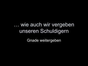 Gnade weitergeben - EFG Hemsbach