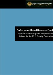 Pacific Research Expert Advisory Group Criteria for the