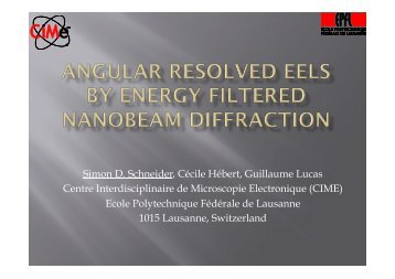 Angular momentum resolved EELS by energy filtered nanobeam ...