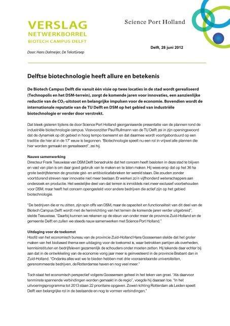 Delftse Biotechnologie Heeft Allure En Betekenis Bean Managed