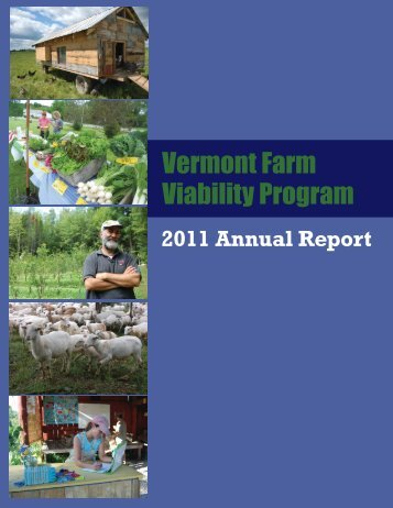 2011 Annual Report Vermont Farm Viability Program