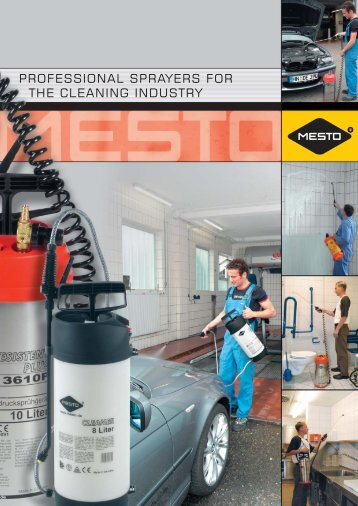 PROFESSIONAL SPRAYERS FOR THE CLEANING INDUSTRY