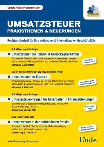 Umsatzsteuer bei Reihen - Linde Verlag