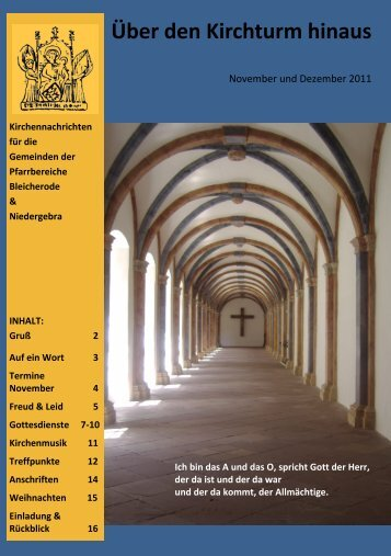 Kirchennachrichten Bleicherode-Niedergebra November Dezember ...