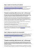 Stap 1: neem persoonlijk contact op - Wasmeer - Page 2