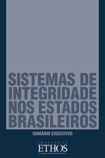 Sistemas de Integridade nos Estados Brasileiros - Instituto Ethos