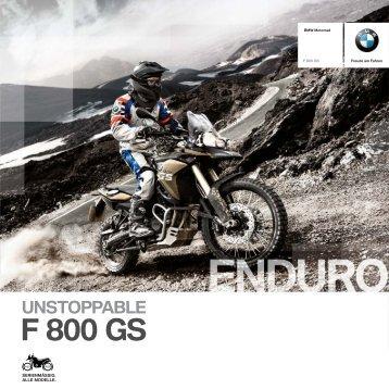 Katalog F 800 GS - BMW Motorrad in Berlin von Riller & Schnauck