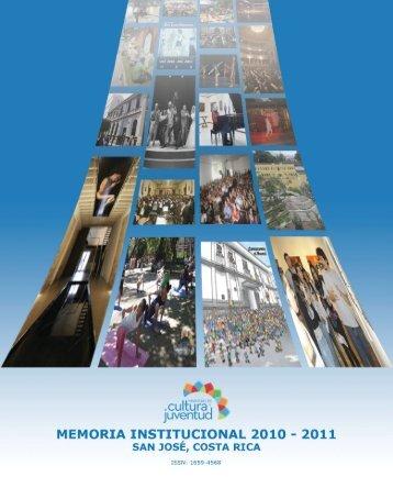 Memoria institucional 2010-2011 - Sinabi