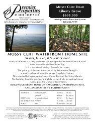 mossy cliff waterfront home site - Premier Properties of Door County