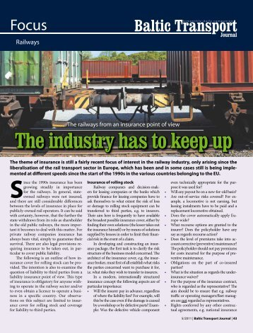 The industry has to keep up Since - Baltic Press
