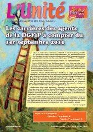 Les carrières des agents de la DGFiP à compter du 1er septembre ...