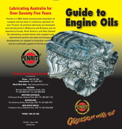 Lubricating Australia for Over Seventy Five Years - Turbo Creations