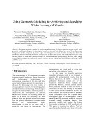 Using Geometric Modeling for Archiving and Searching 3D ...