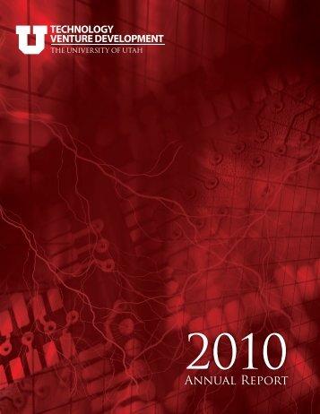 Annual Report - Technology Venture Development - University of Utah