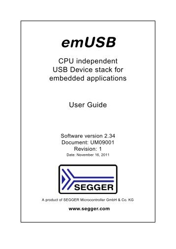 emUSB Device manual - SEGGER Microcontroller