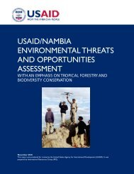 usaid/nambia environmental threats and opportunities assessment