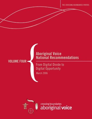 Aboriginal Voice National Recommendations - Public Policy Forum