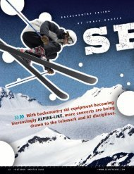 With backcountry ski equipment becoming  increasingly ... - Snews