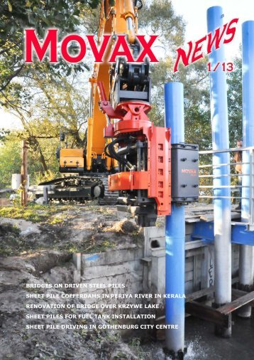 Bridges on driven steel piles sheet pile cofferdams in periya ... - Movax