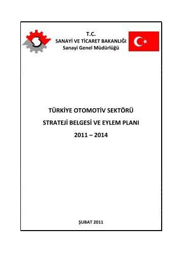 türkiye otomotiv sektörü strateji belgesi ve eylem planı 2011