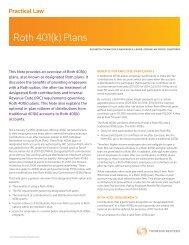 Roth 401(k) Plans (PDF) - Groom Law Group