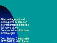 Caso clinico con risvolti medico-legali - S. Campanella