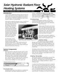 Solar Hydronic Radiant Floors Fact Sheet