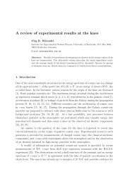 A review of experimental results at the knee - High Resolution Fly's ...