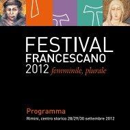 Programma - Festival Francescano