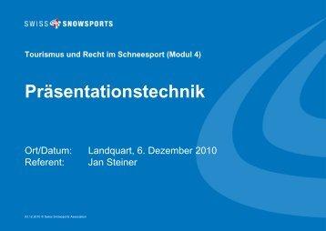 Präsentationstechnik - Swiss Snowsports